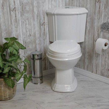Toilets - Sheffield Dual Flush Corner Toilet White Elongated Bowl by the Renovator's Supply