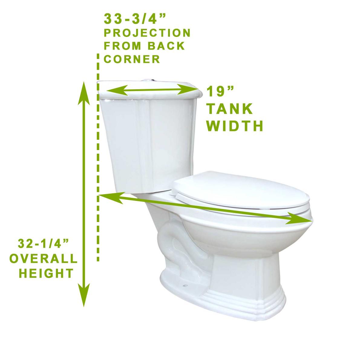 spec  PRE White Porcelain Elongated Space Saving Corner Toilet. Corner Toilet Tank   Small Corner Toilet   Renovator s Supply