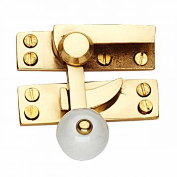 Traditional Window Sash Lock Solid Brass Porcelain Knob 10693grid