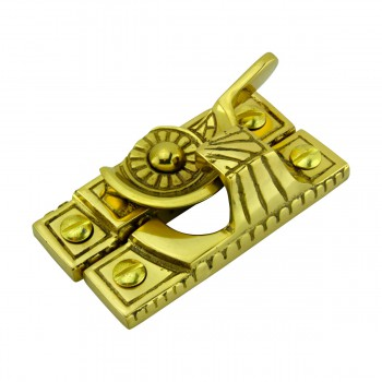 spec-<PRE>Ornate Window Sash Lock Bright Solid Brass </PRE>