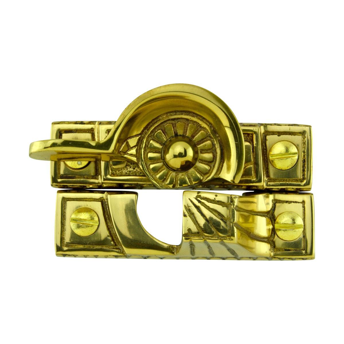 Ornate Window Sash Lock Bright Solid Brass Solid Brass Sash Lock Ornate Sash Lift Bright  Sash Window Locks