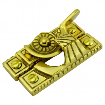 <PRE>Ornate Window Sash Lock Bright Solid Brass </PRE>zoom5