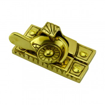 <PRE>Ornate Window Sash Lock Bright Solid Brass </PRE>zoom6