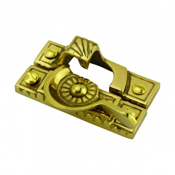 <PRE>Ornate Window Sash Lock Bright Solid Brass </PRE>zoom7