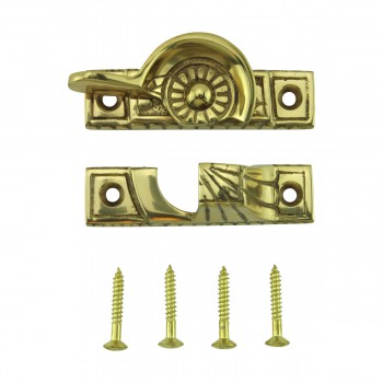 <PRE>Ornate Window Sash Lock Bright Solid Brass </PRE>zoom10