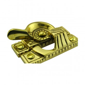 <PRE>Ornate Window Sash Lock Bright Solid Brass </PRE>zoom11