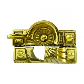 Ornate Window Sash Lock Bright Solid Brass 10702grid