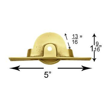 spec-<PRE>Sash Lift Solid Brass Weight Pulley </PRE>