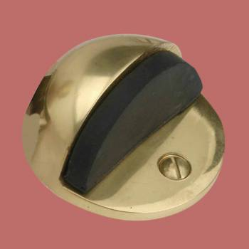 <PRE>Brass Door Stop Dome Floor Mount Bumper </PRE>zoom2