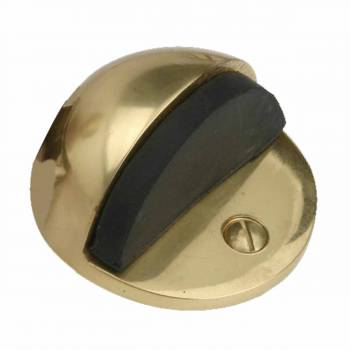 <PRE>Brass Door Stop Dome Floor Mount Bumper </PRE>zoom1