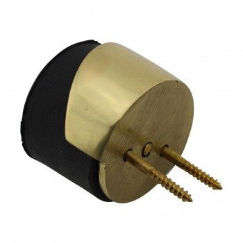 spec-<PRE>Round Brass and Rubber Door Bumper Floor/Wall Mount</PRE>