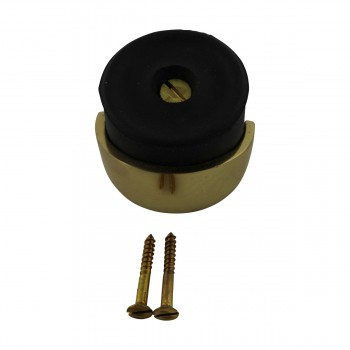 <PRE>Round Brass and Rubber Door Bumper Floor/Wall Mount</PRE>zoom4