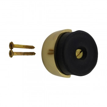 <PRE>Round Brass and Rubber Door Bumper Floor/Wall Mount</PRE>zoom5