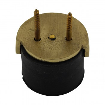 <PRE>Round Brass and Rubber Door Bumper Floor/Wall Mount</PRE>zoom6