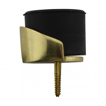 <PRE>Round Brass and Rubber Door Bumper Floor/Wall Mount</PRE>zoom9