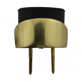 <PRE>Round Brass and Rubber Door Bumper Floor/Wall Mount</PRE>zoom10