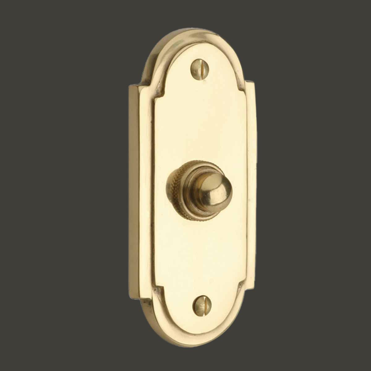 Colonial Brass Push Button Door Bell 4 Quot H