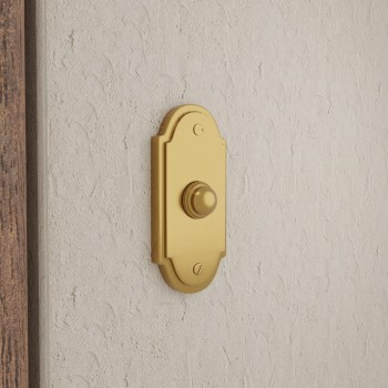 <PRE>Brass Door Bell Push Button Chime Traditional Colonial Long Lasting Polished Design 4inch </PRE>