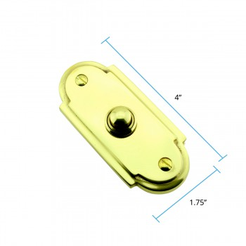 "spec-<PRE>Colonial Brass Push Button Door Bell 4"" H </PRE>"