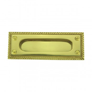 Georgian Rope Recessed Sash Lift Bright Brass Window Pulls Window Lifts Sash Lift