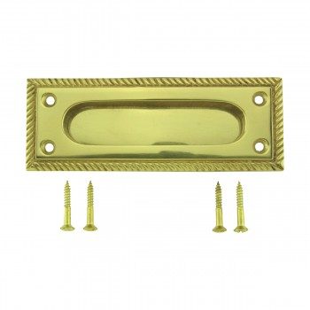 Georgian Rope Recessed Sash Lift Bright Brass 10739grid