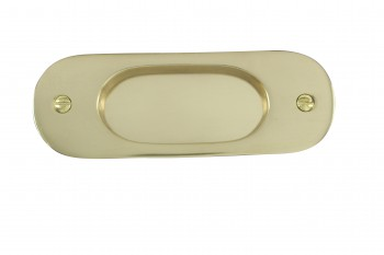 Door Pull Polished Lacquered Brass  5 1/16