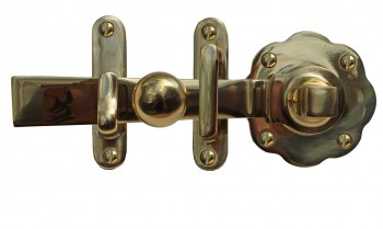 <PRE>Gate Latch Solid Brass Classic Knob Set with Pull </PRE>zoom3