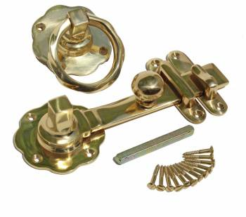 Gate Latch Solid Brass Classic Knob Set with Pull