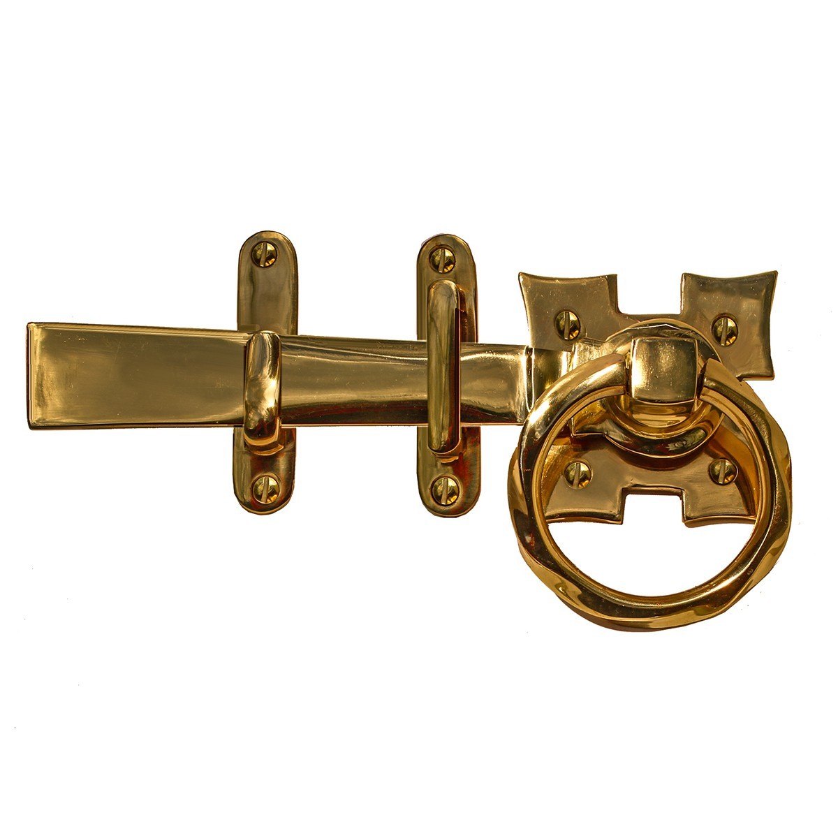 Gate Latch Set Solid Brass Ring Twist 7 L Heavy Duty Solid Brass Backyard Gate Latch Heavy Duty Decorative Gate Latch Outside Garden Gate Latches