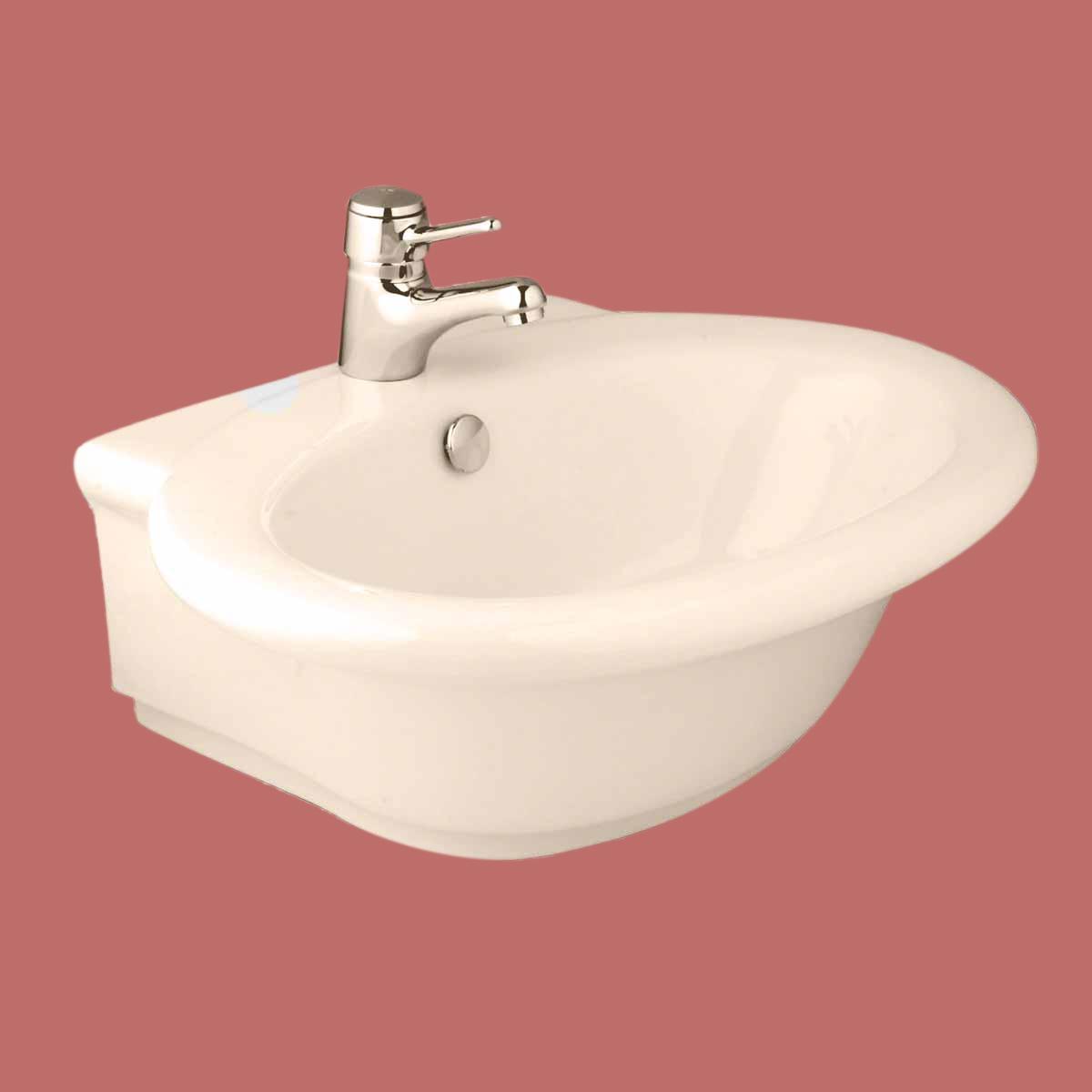 Bathroom Vessel Sink Bone China Faucet Hole