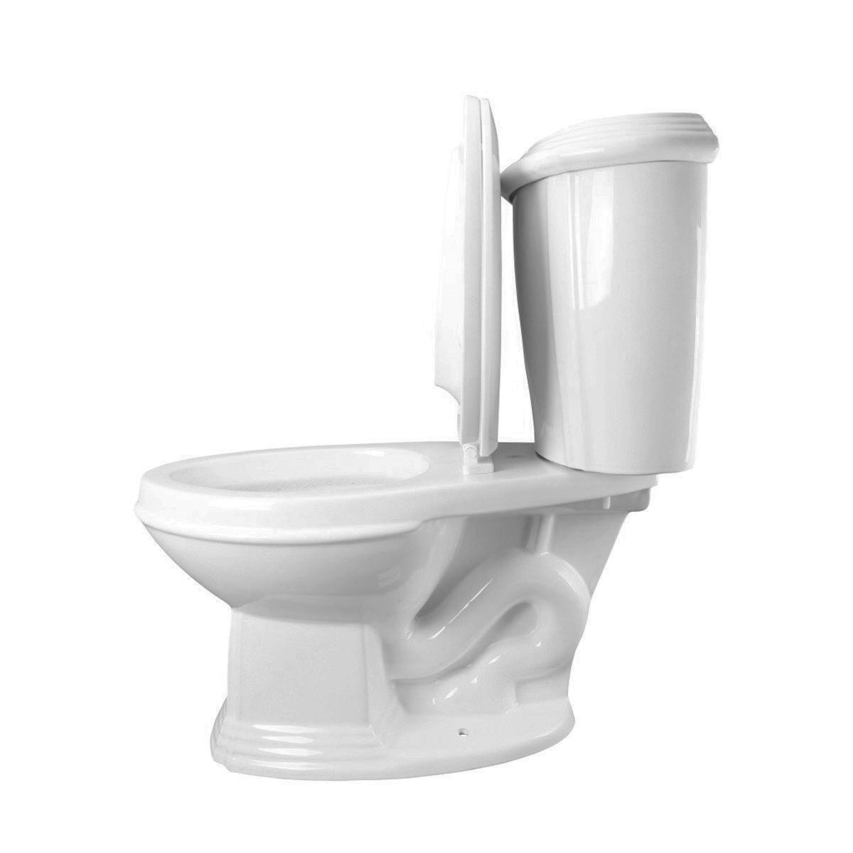 White Dual Flush Two Piece Elongated Bathroom Toilet Corner Ceramic Toilet Dual Flush Toilet Bathroom Toilets