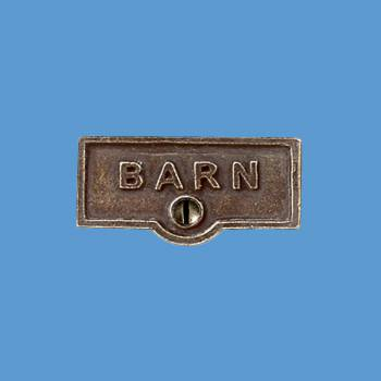<PRE>Switch Plate Tags BARN Name Signs Labels Cast Brass </PRE>zoom2