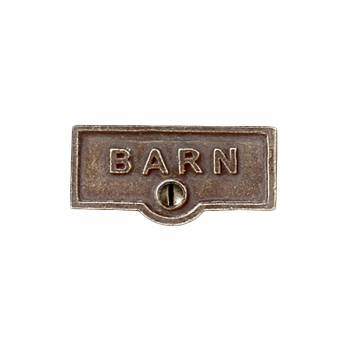 Switch Plate Tags BARN Name Signs Labels Cast Brass 10789grid