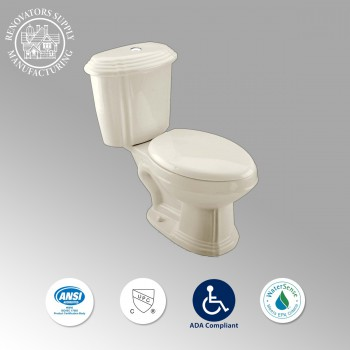 Toilets - Sheffield Deluxe Two-piece Dual Flush Toilet Bone Elongated by the Renovator's Supply