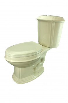 Biscuit China Dual Flush Bathroom Corner Toilet TwoPiece Elongated Seat