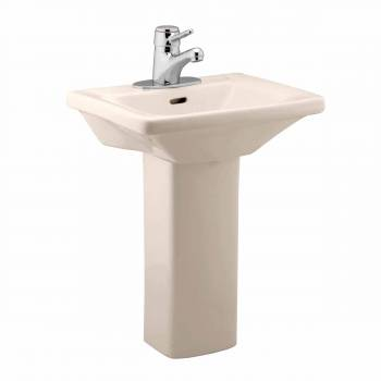 Children's Bathroom Rectangle Pedestal Sink Bone China Wash Station 10792grid