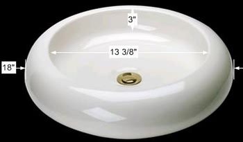 spec-<PRE>Bathroom Vessel Sink Bone China Tranquility </PRE>