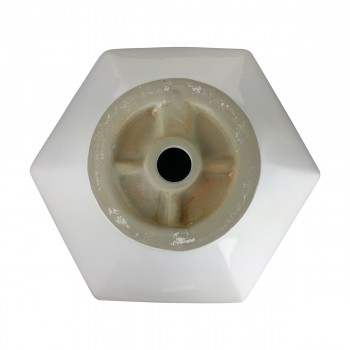 <PRE>Bathroom Vessel Sink White China Porcelain Hexagon </PRE>