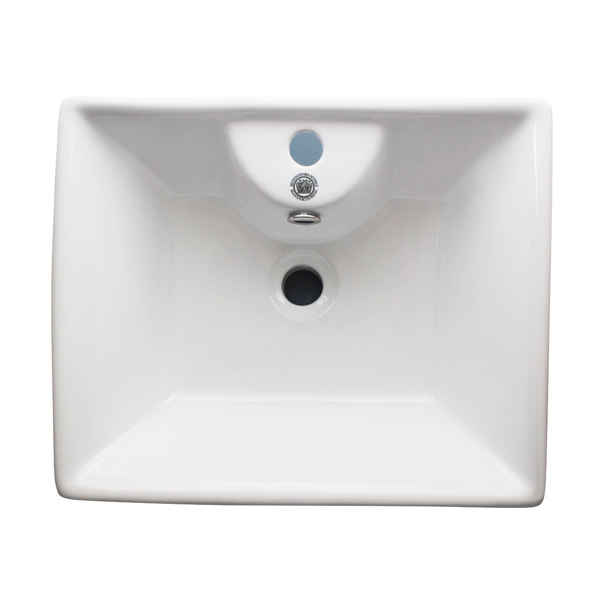 White Bathroom Vessel Basin Sink Bowl Above Counter Square with Overflow bathroom vessel sinks Countertop vessel sink White Bathroom Vessel Sink