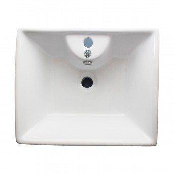 <PRE>White Bathroom Vessel Basin Sink Bowl Above Counter Square with Overflow </PRE>zoom3