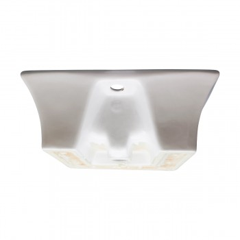 <PRE>White Bathroom Vessel Basin Sink Bowl Above Counter Square with Overflow </PRE>zoom6