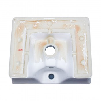 <PRE>White Bathroom Vessel Basin Sink Bowl Above Counter Square with Overflow </PRE>zoom7
