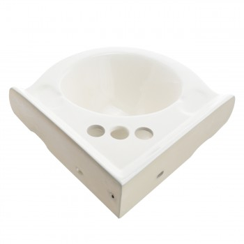 Renovators Supply Biscuit Porcelain Corner Wall Mount Bathroom Sink Wall Mount Bathroom Sink Small Wall Mount Corner Sink Wall Mounted Wash Basin