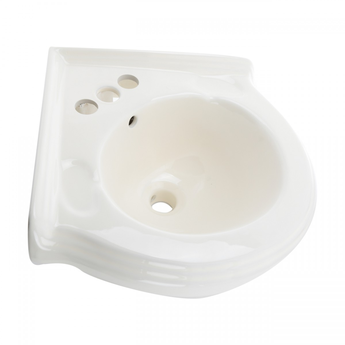 Bathroom Corner Wall Mount Sink Bone 4 Quot Vitreous China