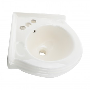 Corner Sinks - Portsmouth Bone Corner Vessel Sink by the Renovator's Supply