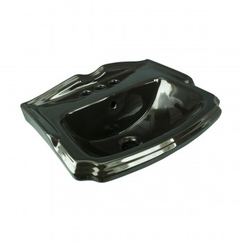 <PRE>Small Wall Mount Sink Black Bathroom Basin 19inch </PRE>zoom2