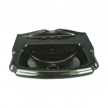 <PRE>Small Wall Mount Sink Black Bathroom Basin 19inch </PRE>zoom1