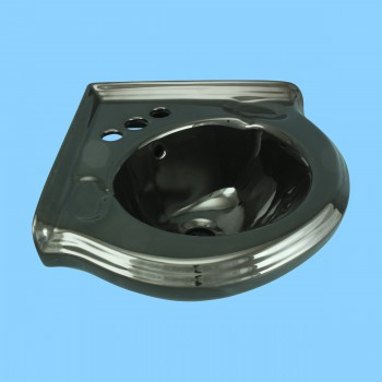 spec-<PRE>Small Corner Bathroom Sink Wall Mount Black Centerset  </PRE>