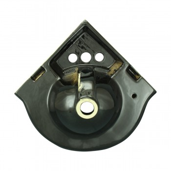 <PRE>Small Corner Bathroom Sink Wall Mount Black Centerset  </PRE>zoom6