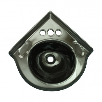 <PRE>Small Corner Bathroom Sink Wall Mount Black Centerset  </PRE>zoom8